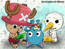 chopper happy plue on ds by Sarukinto