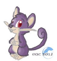 PKMN-Oscar the Rattata by rosa-pegasus