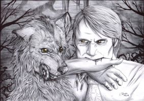 Hannibal - Day  6 - Yellow eyes by FuriarossaAndMimma