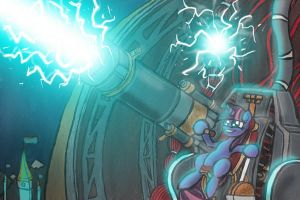 Twilightning Cannon by Checkmate-the-Pony