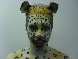Leopard Bodyart by 1lonelyangel