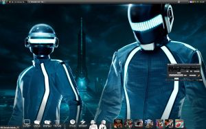 Daft Punk Tron Wallpaper by HarryBana
