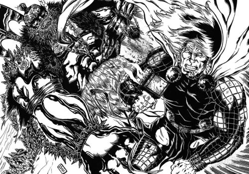 Thor vs Ice Giant 201 by barfast