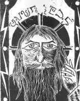 rasputin engraving by MadamStephana