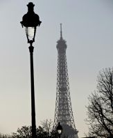 Lamp Post and Eiffel by Michies-Photographyy