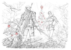 Happy holidays for the witcher fans! by CG-Zander