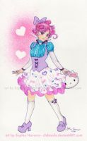 Hello Kitty Lolita Thanks for Friend by ChibiSofa