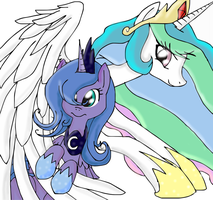 princess celestia and luna by dashiepie
