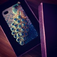 peacock iPhone case by Molekuele