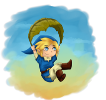 Chibi Link on adventure by Dallony