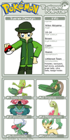 Arbor as grass-type trainer by Pandalove93