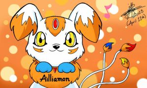 ~Ailliamon on Colors 3d~ by pokediged