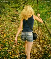 hiking girl by Val-Mont