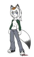 modern day Kitsune gal design by rongs1234