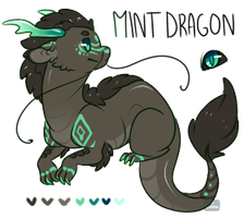 Character Re-Homeing ~ Mint Dragon (Closed) by LunarAdopts
