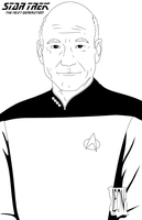 Captain Jean-Luc Picard by DarkFurianX