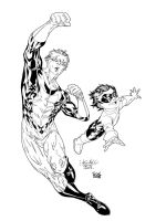 Invincible and Kid Omni-Man by SpiderGuile