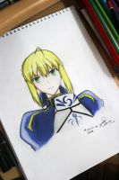 SABER - Fate/Stay Night (Fate/Zero) by Zer0-Slayer