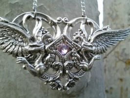 Cathedral of Wings Pendant 1 by ArtByStarlaMoore