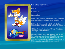 Sonic X: FIU eye-catch card: Tails by bvge