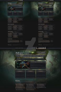 IPB Theme, Xenforo and vBulletin Style Concept by the-danzor