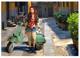 The Hobbit: Vespa by momofukuu
