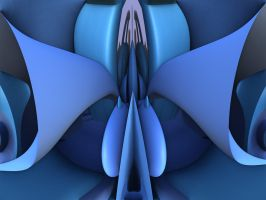 The Blue Flamboyant Fractal by recycledrelatives