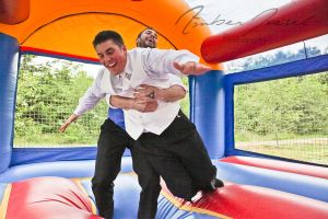 Wedding Bounce House Groom and Best Man by a-girl-like-me