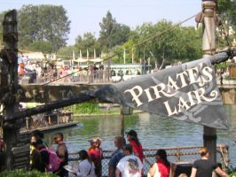 Pirate's Lair sign by disneyland-stock