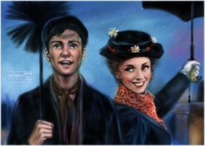 Bert and Mary Poppins by daekazu