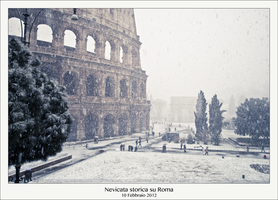 Legendary Snow on Rome by michelecannone