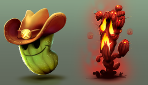 Cactus characters by Henkkab