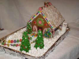 Teh Gingerbread House. by MorbidandMasked