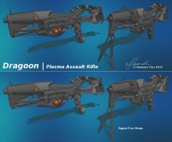 Plasma Assault Rifle concept Dragoon by dematics