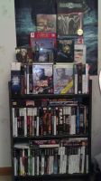 Current Horror Game Shelf by SirTobbii