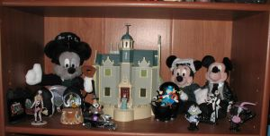 Haunted Mansion Shelf 2 by WDWParksGal-Stock