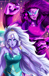 Opal and Sugilite by GhostlyStatic