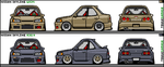 Nissan Skyline ER34 and R32.4 by M-e-t-a-l