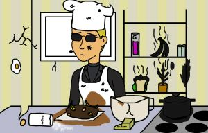 Wesker is cooking by Yeti112