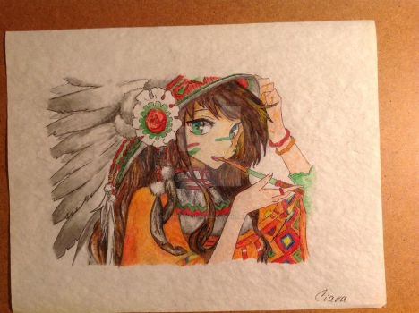 native girl by Hauntedhouse798