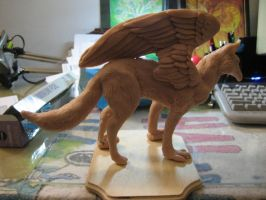 Fox Griffin Sculpt WIP by DragonCid