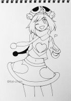 Deka Amitie traditional inking practice by Keichan411
