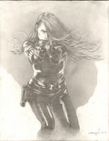 Black Widow Drawing 01 by SpiritedFool