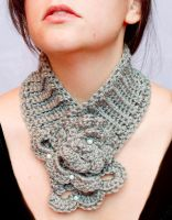 Adjustable elegant grey cowl by theaquallama