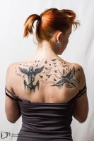 Jessi's Back Tattoos by Reaper-X