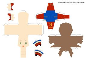 papercraft - Spain World Cup by Furesia