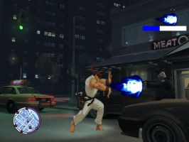 GTA STREET FIGHTER HADOUKEN by stas-gavrik