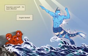 USE SURF, GYARADOS! by Blueberry-Cat