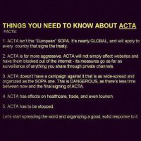 STOP ACTA! by Mytokyokitty