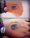 Eye study on hand by HibiyoruChihiyro